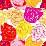 Roses repetition Stock Image