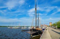 Rostock harbor. Germany Stock Images