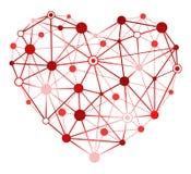 Rotes Herz mit Anschlussstücken Lizenzfreie Stockfotografie