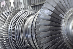 Rotor of a steam turbine Stock Photography