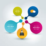 Round flow chart infographics scheme. Royalty Free Stock Photography