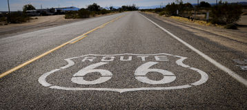 Route 66 road print Stock Photography