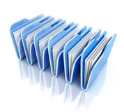 Row blue file Stock Photo