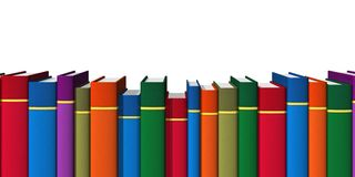 Row of color books Stock Image