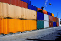 Row container Royalty Free Stock Images