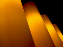 Row of glowing lamps Stock Image
