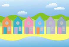 Row of houses Stock Image