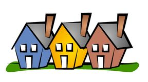 Row of Houses Clip Art House Royalty Free Stock Photos