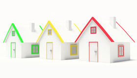 Row of houses Royalty Free Stock Image