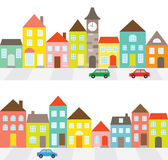 Row of Houses Stock Photos