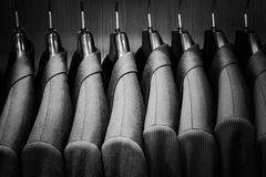 Row of men suit jackets. Royalty Free Stock Photo