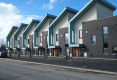 Row of Modern Houses Royalty Free Stock Photography