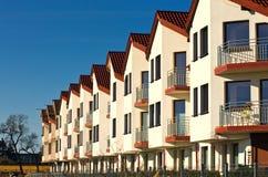 Row of modern houses Stock Image