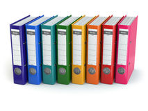 Row of office binders. Royalty Free Stock Images