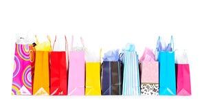 Row of shopping bags Royalty Free Stock Photos