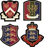 Royal emblem badge shield Stock Photography