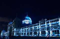 Royal Exhibition Buildings during White Night Royalty Free Stock Image