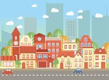 A rua da cidade de Vecor Imagem de Stock