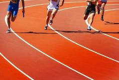 Running athletes Stock Photo
