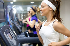 Running in gym Stock Image