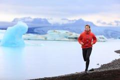 Running man - Trail runner training nature run Royalty Free Stock Photo