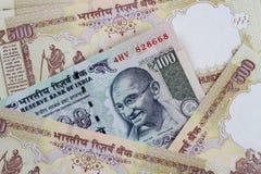 Rupia indiana da moeda - cédulas da INR Fotografia de Stock Royalty Free