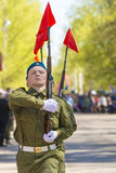 Russian officers at the parade on the occasion of the Victory Day celebrations on May 9 Stock Photography