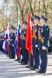 Russian officers at the parade on the occasion of the Victory Day celebrations on May 9 Stock Images
