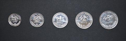 Série croata do dinheiro da moeda de Kuna Imagens de Stock Royalty Free