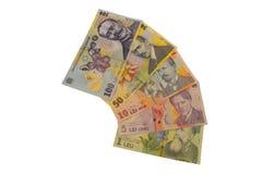 Série romena da moeda da cédula dos leus Fotografia de Stock Royalty Free