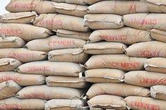 Sacchetti del cemento Immagine Stock