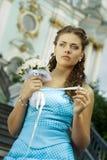 Sad bride Stock Images