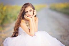 Sad bride Royalty Free Stock Photography
