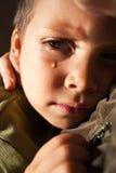Sad child crying Stock Images