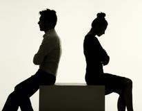 Sad couple having an argument Stock Images