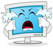 Sad Crying Computer Monitor Character Royalty Free Stock Photography