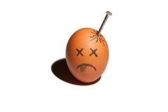 Sad egg character Royalty Free Stock Photography
