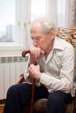 Sad Old Man Stock Images