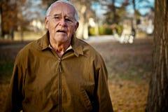 Sad Old Man Stock Photo