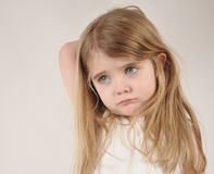 Sad and Tired Little Child Royalty Free Stock Images