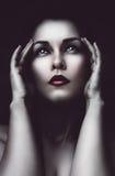 Sad woman with headache Stock Photography