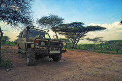 Safari vehicle Royalty Free Stock Image