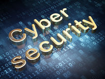 Safety concept: Golden Cyber Security on digital Stock Images