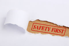 Safety First Stock Image