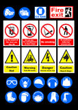 Safety signs Royalty Free Stock Photography