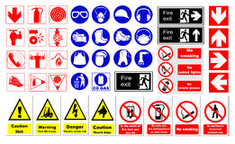 Safety signs Stock Images