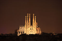 Sagrada familia cathedral in Barcelona, Spain Royalty Free Stock Photography