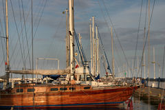 Sail-boats in the marina Stock Image