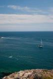 Sailboat at anchor Royalty Free Stock Image
