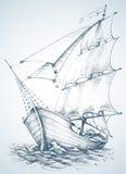 Sailboat wallpaper Stock Images